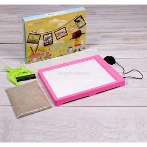 Песочная анимация (столик/планшет с подсветкой для рисования песком, песок, цвета рамки в ассортименте)