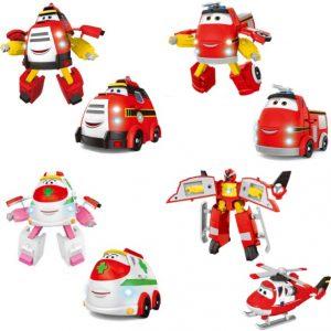Рэй и пожарный патруль набор из 4 игрушек трансформеров (Эмби, Рэй, Хеликс, Памп)