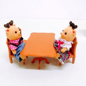 Мебель для кукол Кухня Обеденный стол со стульями Happy Family