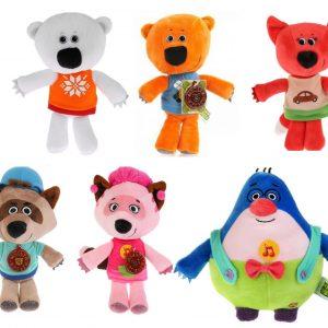 Мимимишки набор из 6 мягких игрушек 20 см (Тучка, Кеша, Лисичка, Саня, Соня, Крот Валя)