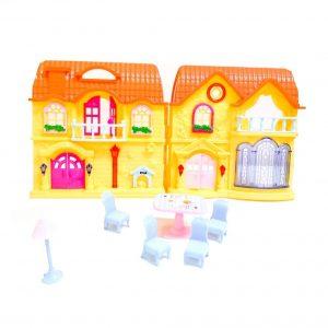 Кукольный домик складной c мебелью и 3 фигурками котиков