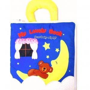 Мягкий бизиборд, мягкая книжка Сонный мишка
